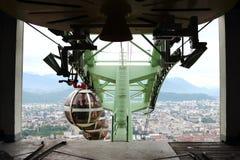 Grenoble Bastille cable car, Mount Bastilla, France stock photography