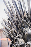 Iron throne made with swords, fantasy scene or stage. Recreation Stock Photography
