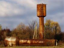 Iron titans are similar to the rusty autumn. Stock Photo
