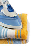 Iron on towels Stock Image