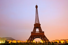 Iron tower at dusk background Royalty Free Stock Photography