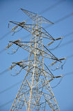 Iron tower of electric power transferring Royalty Free Stock Photos