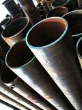 Iron tubes Stock Photo
