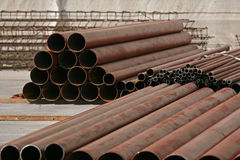Iron tubes Stock Images