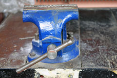 Iron Vice in Workshop Royalty Free Stock Image
