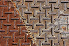 Iron wall with rust Royalty Free Stock Photography