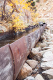 Iron water flume Royalty Free Stock Image