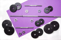 Iron Weights Set Stock Photography