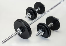Iron Weights Set Royalty Free Stock Photography