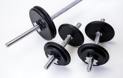 Iron Weights Set Stock Photos