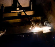 Iron Welding, Bright Light Royalty Free Stock Photos