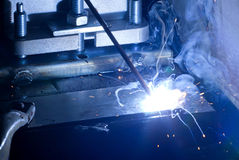 Iron Welding, Bright Light Royalty Free Stock Image