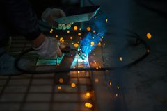 Iron welding, CO2 Royalty Free Stock Images