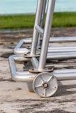 Iron wheel base of iron structure Stock Photo