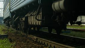 Iron wheels. stock footage