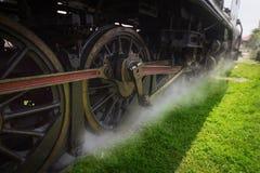 Iron Wheels of Stream engine locomotive train in thailand Stock Photography