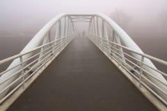 Iron white bridge Stock Photo