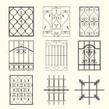 Iron window grills Stock Images