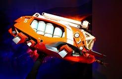 Iron wing mark iii drone, iron man experience display at disneyland, hong kong royalty free stock photos