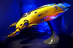 Iron wing mark vi, deep sea drone, iron man experience display at disneyland, hong kong royalty free stock image