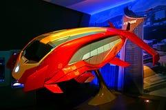 Iron wing mark viii, flying passenger vehicle, iron man experience display at disneyland, hong kong royalty free stock photography
