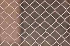 Iron wire fence Stock Images