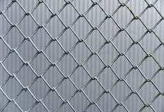 Iron wire fence background Royalty Free Stock Photos