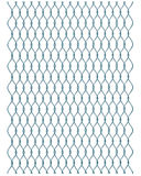 Iron wire fence. Piece of metallic net on white background Stock Image
