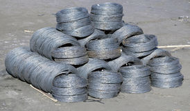 Iron wires under Royalty Free Stock Photos