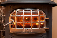 Iron wood stove. Royalty Free Stock Photo