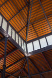 Iron wooden ceiling restored ancient ship. A Stock Photos