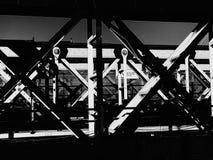 Iron work on bridge royalty free stock image