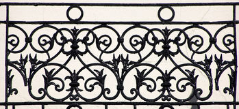 Iron work detail. Picture is taken in central London Royalty Free Stock Photos