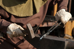 Iron worker or blacksmith Stock Images