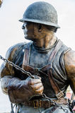 Iron Worker sculpture Stock Image