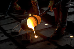 In the iron works. Manufacturing Royalty Free Stock Images