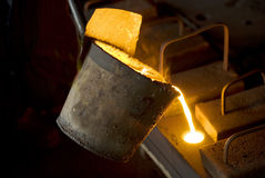 In the iron works. Manufacturing Stock Photography