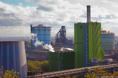 Iron works industry in Duisburg, Germany, Europe royalty free stock image