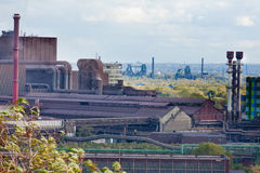 Iron works industry in Duisburg, Germany, Europe Stock Photo