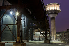 Iron works at night Royalty Free Stock Photos