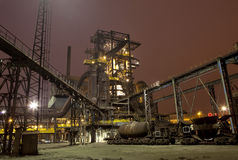 Iron works at night Royalty Free Stock Photo