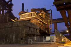 Iron works at night Stock Photography