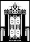 Iron wrought gate (vector) Stock Photo