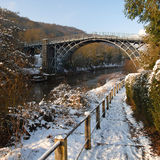ironbridge生动描述冬天 免版税库存照片