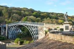 Ironbridge в Шропшире, Великобритании Стоковая Фотография