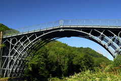 The Ironbridge. In Telford, built in 1779, the worlds first made with iron, and now a world heritage site Royalty Free Stock Photos