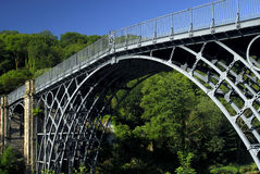 The Ironbridge. In Telford, built in 1779, the worlds first made with iron, and now a world heritage site Royalty Free Stock Photography