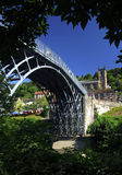 The Ironbridge. In Telford, built in 1779, the worlds first made with iron, and now a world heritage site Stock Image