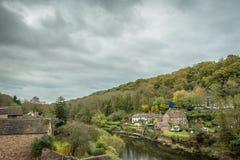 Ironbridge, Reino Unido - 3 de noviembre de 2018: Garganta de Ironbrigde fotografía de archivo libre de regalías