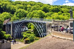 Ironbridge, Shropshire, England. The first cast iron bridge built in 1779 to cross the Severn River Royalty Free Stock Image